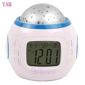 Image 5 - Sky Star Children Baby Room Night Light Projector Lamp Bedroom Music Alarm Clock S08 Wholesale&DropShip