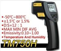 TM750H milieu temperatuur en vochtigheid infrarood thermometer Digitale thermometer hygrometer Buiten thermometer-50C-800C