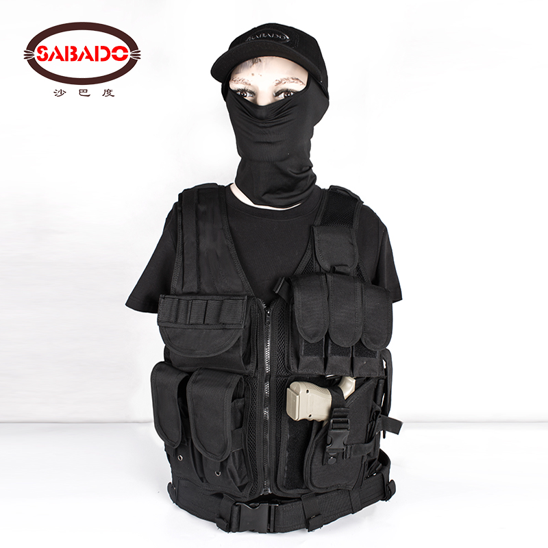 600D Wear resisting Hunting Tactical Wargame Equipment tactics Military Molle Multifunctional Outdoor Adjustable Camo Hunt Vest in Hunting Vests from Sports Entertainment