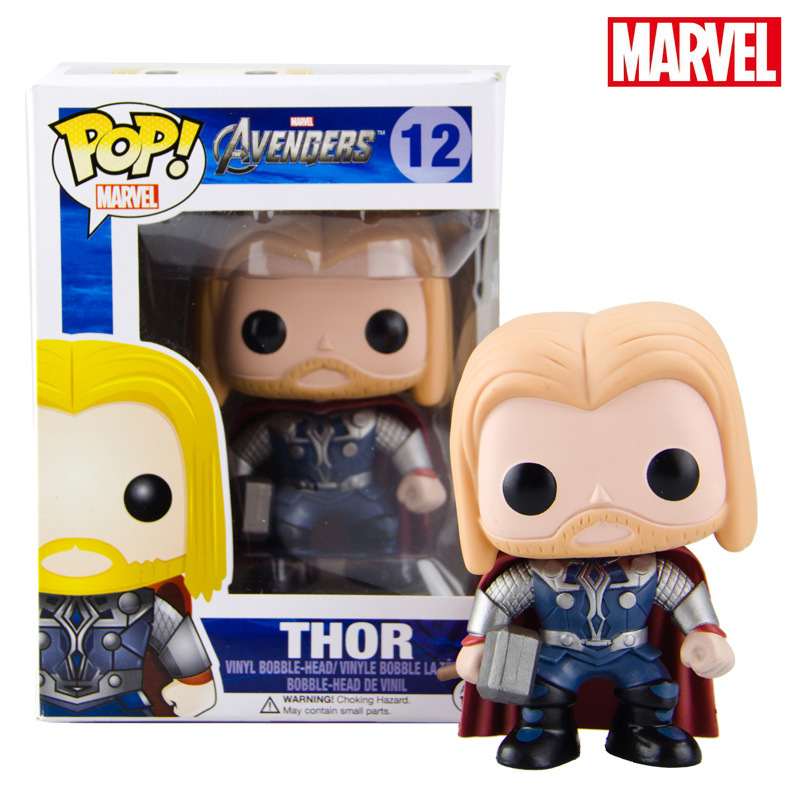 Funko POP Official Thor Vinyl Figure Marvel Movie Avengers Bobble Head Action Figure Collectible Toy  funko pop marvel deadpool 20 bobble head pvc action figure collectible model toy 4 10cm kt2203