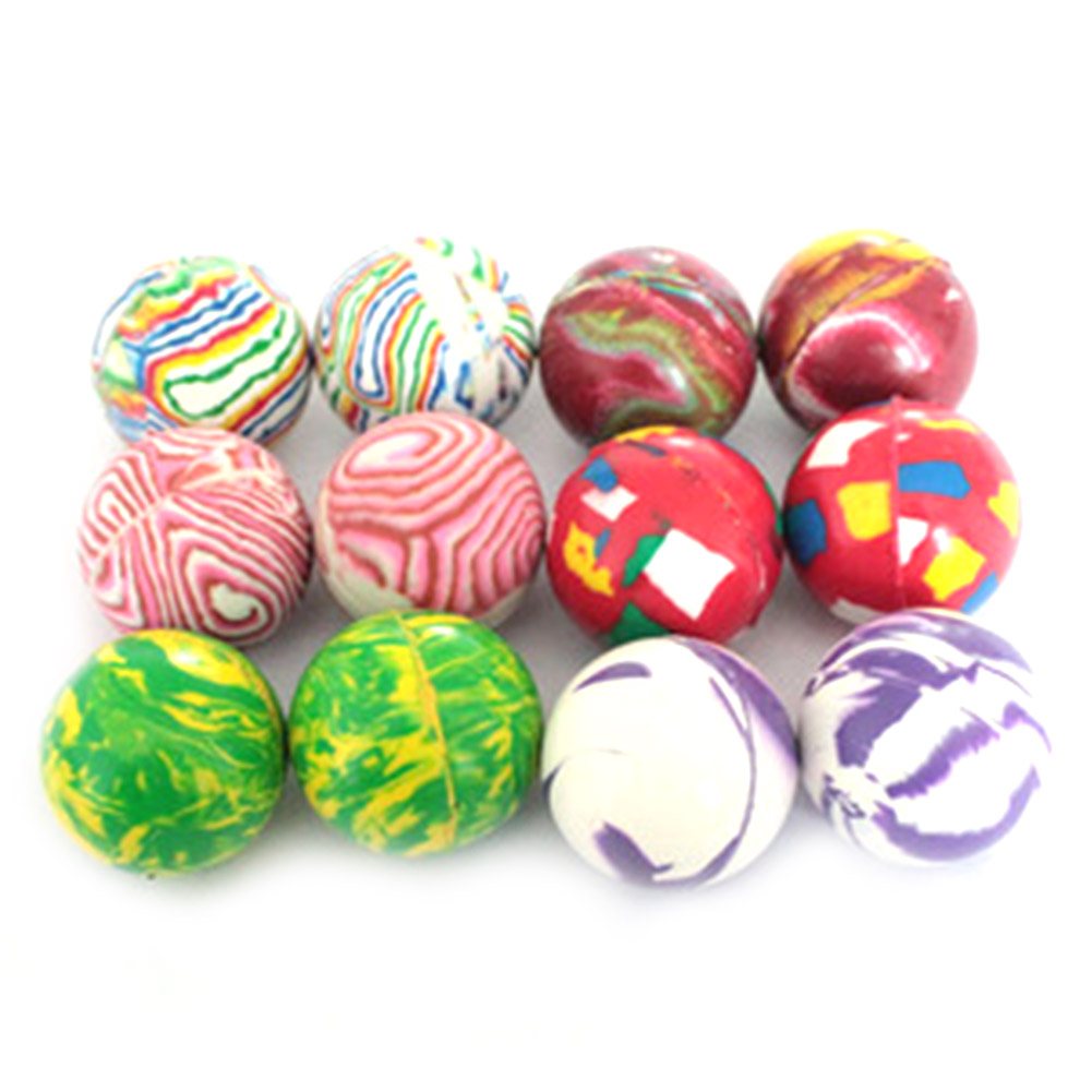 Color Random Children Toy Ball Colored Boy Bouncing Ball Rubber Outdoor Toys Kids Sport Games Elastic Juggling Jumping Balls