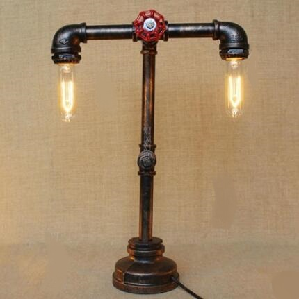 Water pipes American country loft Edison industrial retro style personalized bedroom Cafe decorative water table lamp SG8 american edison loft style rope retro