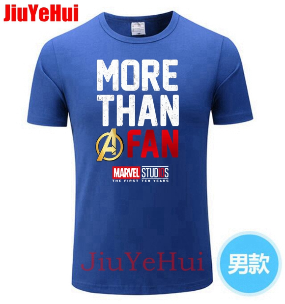 2018 USA Marvel Avengers Men Tshirt Round Collar Pure Tshirts More Than A Fan Tops   T     Shirt   Europe Tops & Tees Infinity War Logo