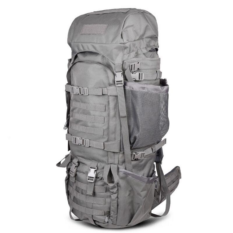 Outdoor mountaineering tactical backpack 110L font b men s b font knapsack camping military travel font