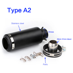 Image 4 - 51mm 60mm Universal Motorcycle GP Escape Motorcross Scooter SC Exhaust Pipe Muffler For FZ6 Ninja cbr650f cb400 s1000r pcx 125