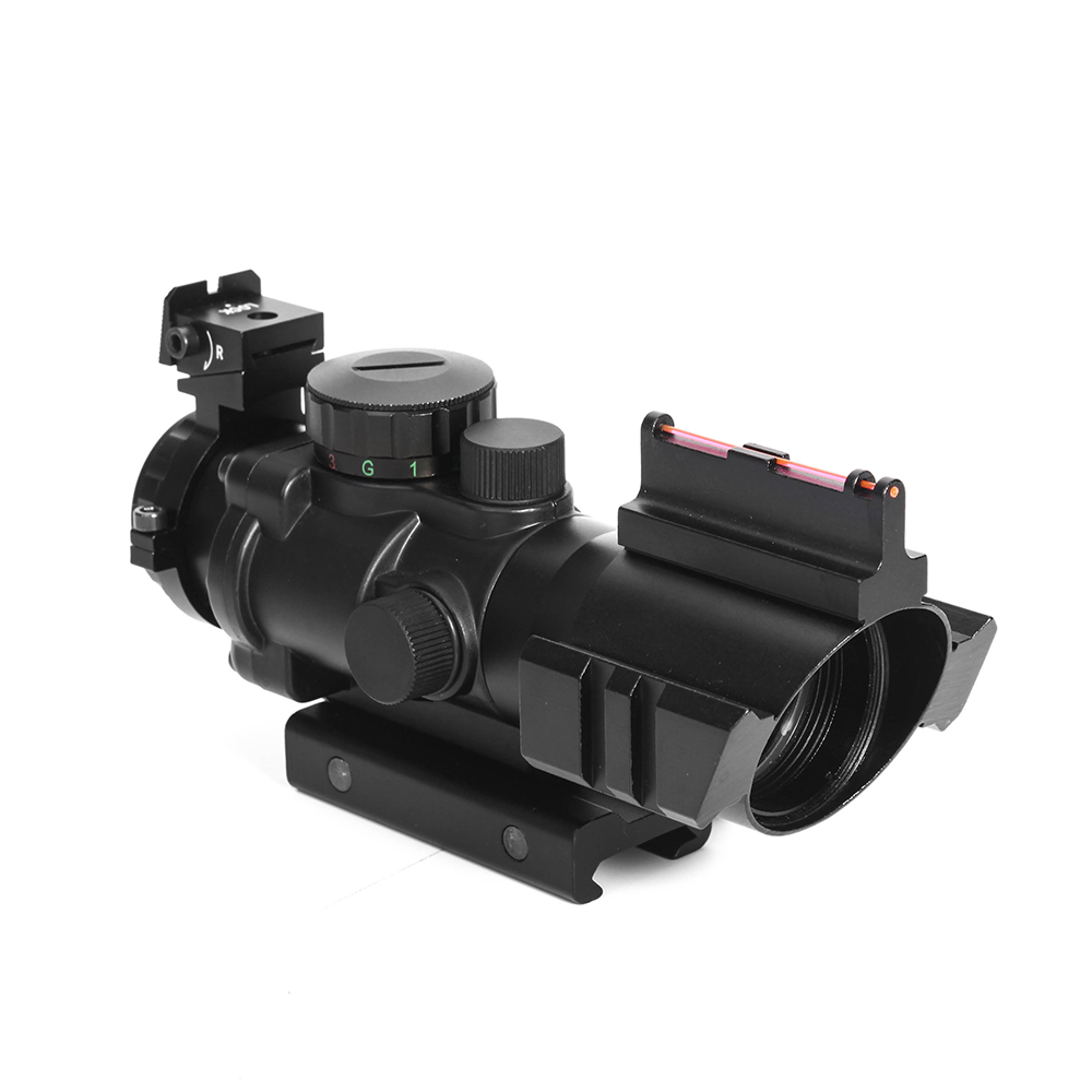 Image 3 - LUGER acog 4x32 Hunting Red Dot riflescope Reflex Tactical Optics Sight Scope With 20mm Dovetail Rail For airsoft air guns rifle-in Riflescopes from Sports & Entertainment