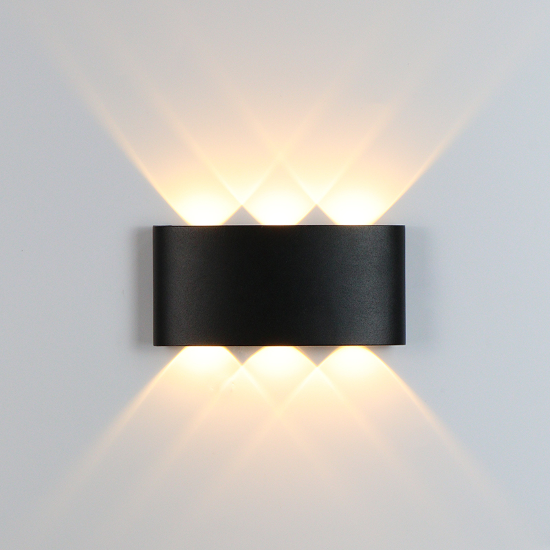 LED Wall Light Outdoor Waterproof IP65 Garden Wall Lamp Aluminum Indoor Bedroom Beside Lamp Stairway Aisle Lamp AC90-260V