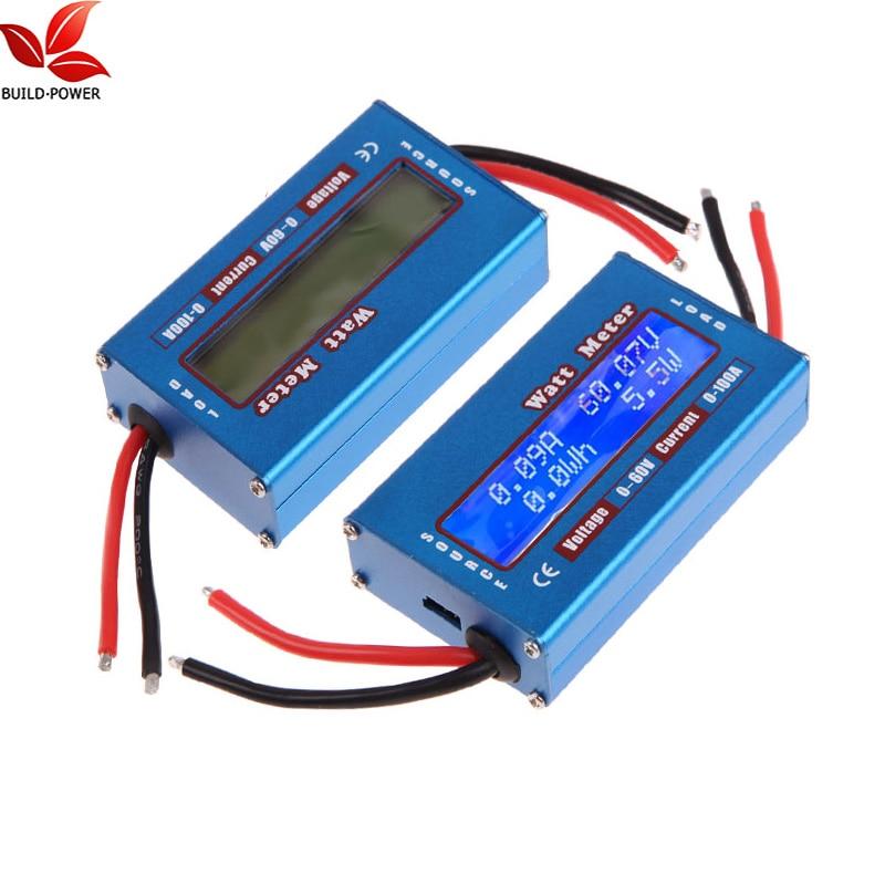 DC 60V 100A Balance Voltage Battery Power Analyzer RC Watt Meter Checker Professional Watt Meter With Backlight LCD