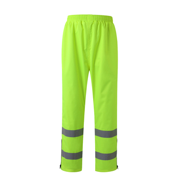 Reflective Safety Rain Pants Waterproof Rain Trousers Working Traffic Clothes Protective Clothes Size M-3XL  C2134 Free Shipping