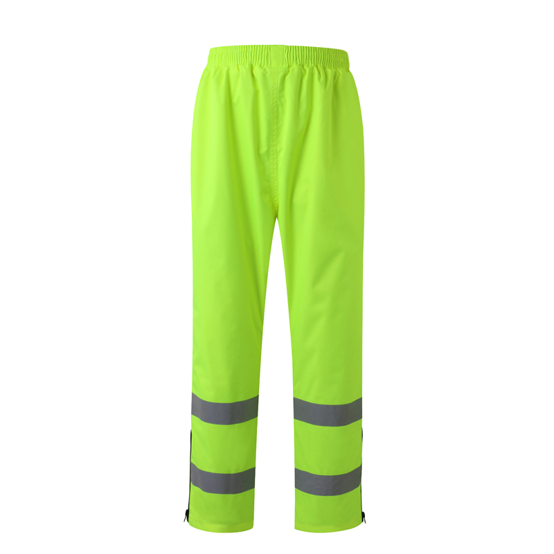 Reflective Safety Rain Pants Waterproof Rain Trousers Working Traffic Clothes Protective Clothes Size M-3XL  C2134 Free Shipping купить дешево онлайн