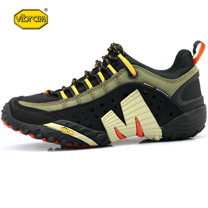 Vibram Men Outdoor Sport Hiking Shoes Light Mesh Breathable for Male High Quality Mountain Climbing Sneakers