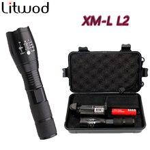 Litwod LED flashlight Waterproof Flashlights 5000 Lumens XM-L2 Zoomable 5 Modes Aluminum Lanterna Led Torch For Camping /Fishing