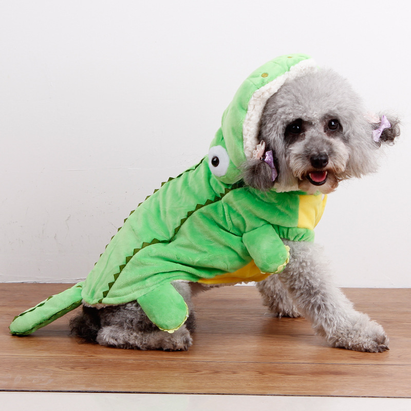 Cat and Dog Costume Crocodile warm Pet Clothes For Cats and Small Dogs-in Dog Down u0026 Parkas from Home u0026 Garden on Aliexpress.com | Alibaba Group  sc 1 st  AliExpress.com & Cat and Dog Costume Crocodile warm Pet Clothes For Cats and Small ...