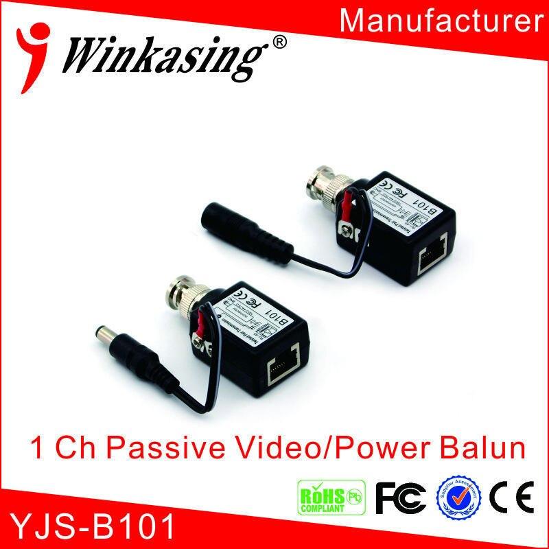 (Free Shipping) Wholesale 750m Single Channel Passive Video Balun CCTV Video Transmitter single channel passive video balun grey silver 2 pcs
