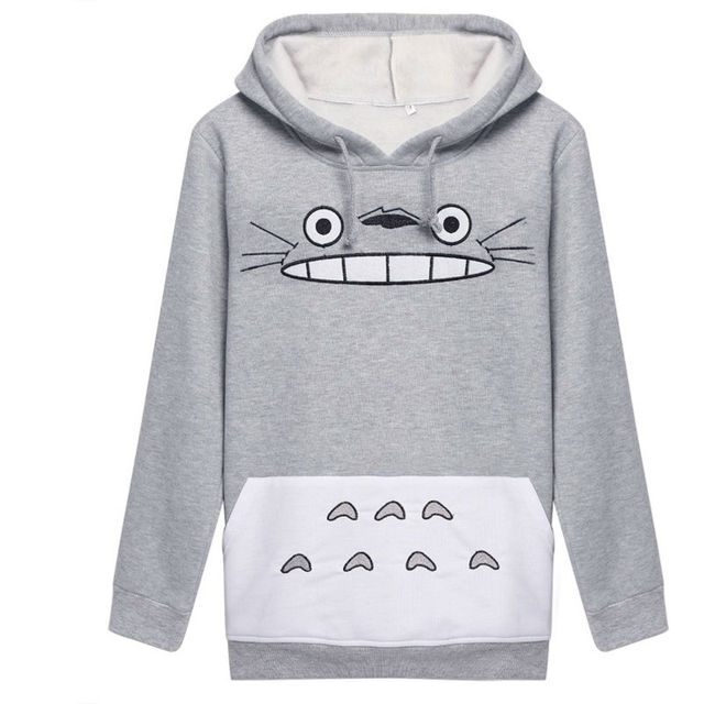 2c8a483b370 Girl Spring Autumn Plus Size Hoodies Women Japan Anime Totoro Cosplay  Costume Clothes Long sleeve Pullover Hooded Sweatshirt
