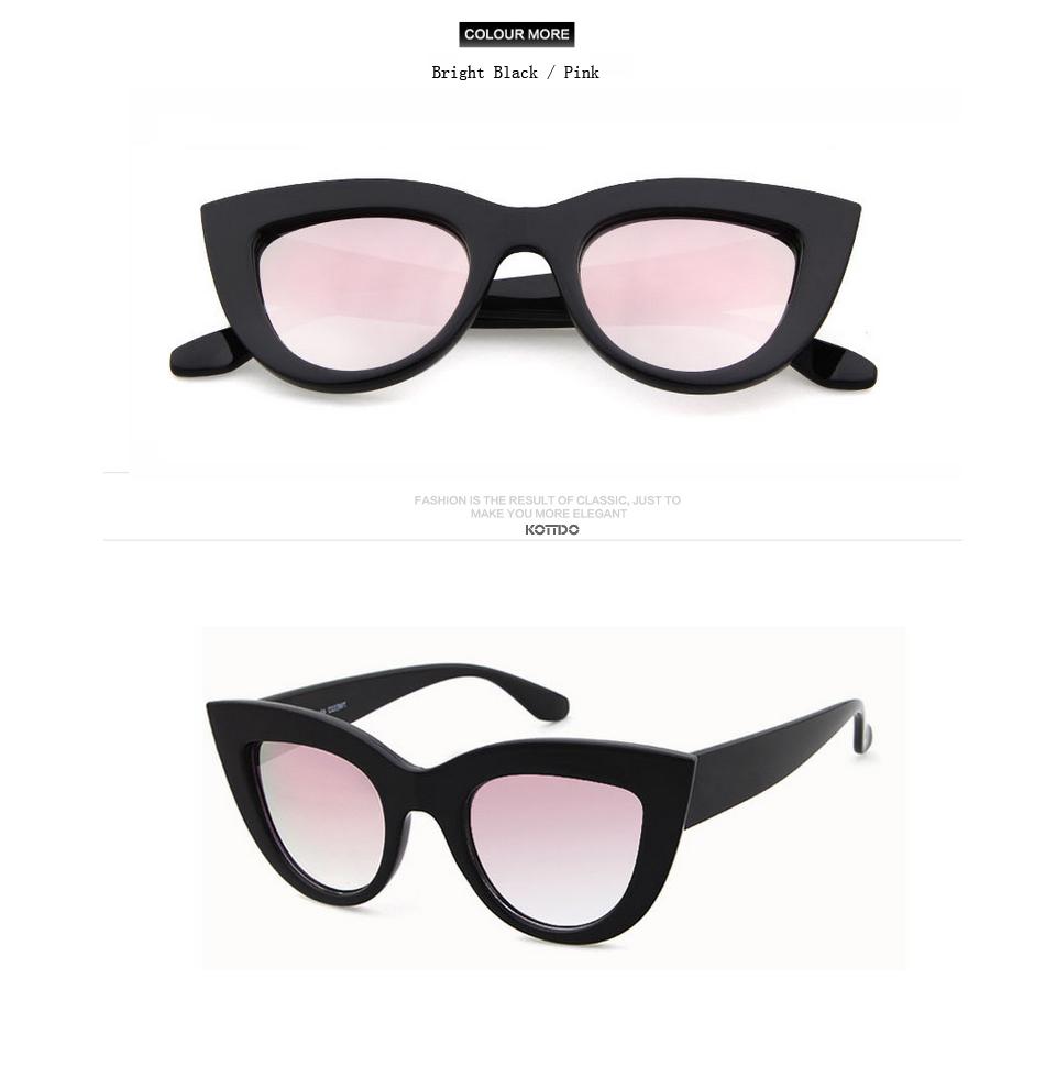 HTB18xdkgI2vU1JjSZFwq6x2cpXaV - Rose Gold Cat Eye Sunglasses For Women Pink Mirror Shades Female Sun Glasses Black White Coating Cateye Aviation Oculos 2018