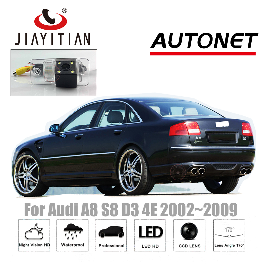 JiaYiTian Rear View Camera For Audi A8 S8 D3 4E 2002 2003 2004 2006 2008 CCD/Night Vision Backup Camera License Plate Camera