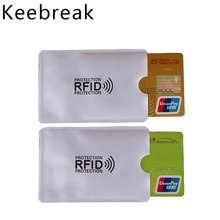 5pcs Anti rfid blocking reader card holder wallet metal business credit card holder case men women card & id holders porte carte(China)