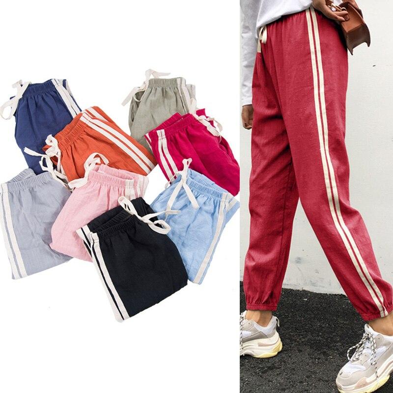 2019 Fashion Women Harem Pants Casual Cotton Linen Ol Lady Ankle -length Loose Capris Trouser Soft Spring Summer Candy Pants Without Return
