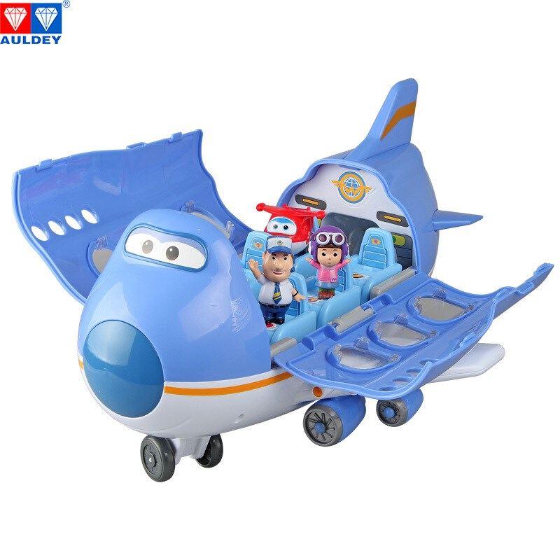 AULDEY Big Wing Aircraft scene series Super Wings High Quality Original Deformation Action Figure Toy Children Model Aniversario