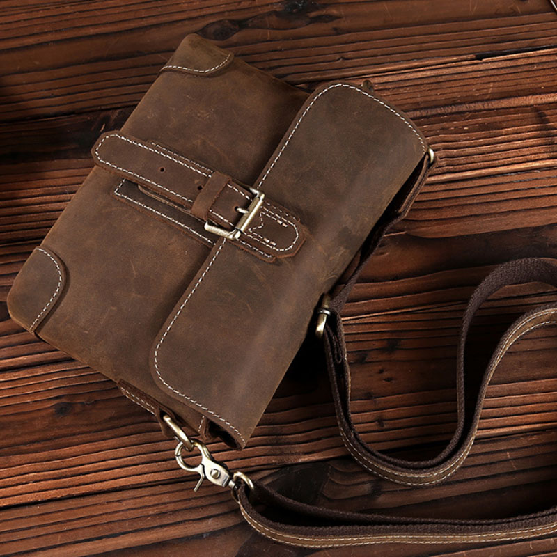Men Crazy Horse Cowhide Cross Body Bag High Quality Retro Messenger Shoulder Luxury Briefcase Business Shoulder Bag bullcaptain new men crazy horse cowhide business cross body bag messenger briefcase travel casual shoulder bag leather bag