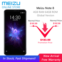 "Global Version Meizu Note 8 4GB RAM 64GB ROM mobile phone android Snapdragon 632 Octa Core 5.99"" Full Screen Dual real Camera(China)"