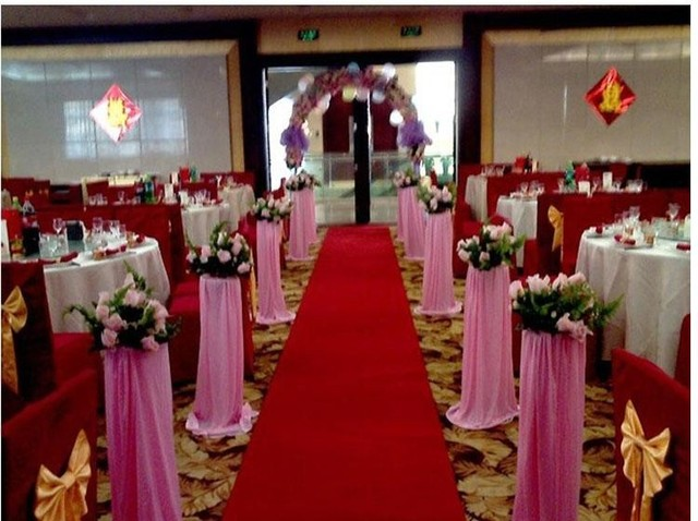 Red Wedding Centerpieces Carpet Aisle Runner  Meter Wide M Long T Station Decoration Wedding Favors