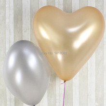 5pcs /lot  heart shaped balloons 23 inch 10g Thickening big balloons100% latex Wedding birthday party large