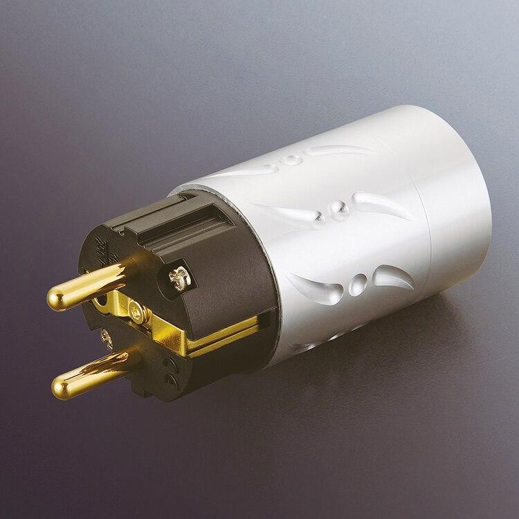 Paire Viborg VE502G + VF502G 100% pur cuivre EU Euro alimentation connecteur Schuko prise IEC femelle prise hifi - 4