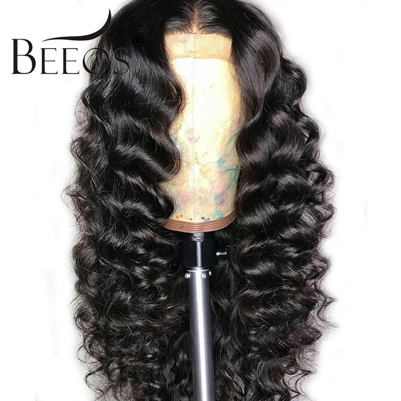 Lace Front Human Hair Wigs For Women Loose Wave 180 Density Pre Plucked With Baby Hair