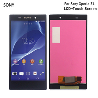 For Sony Xperia Z1 L39H LCD Display Digitizer Glass Panel Assembly For Sony Xperia Z1 L39H C6902 C6903 C6906 Display Screen LCD
