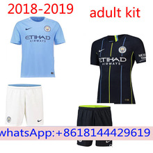 08fb420d Thai AAA Quality Manchesteer adult Soccer Jersey 18 19 city Home blue Away  black 3RD Free
