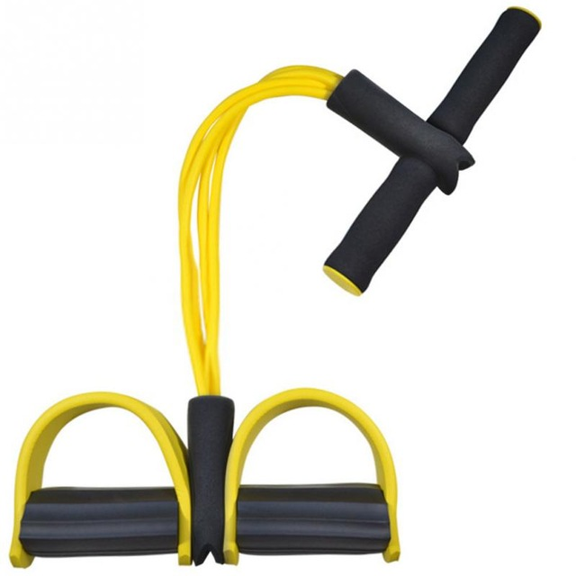 4 Tube Sit Up Pull Rope Chest Pull Leg Latex Resistance Bands Body Slim Foot Pedal Elastic Sport Workout Bands Fitness Equipment