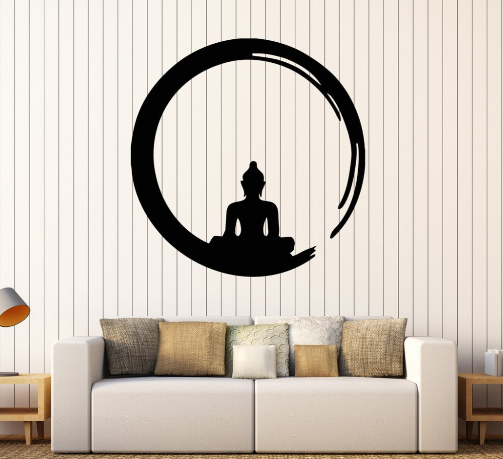 Faszinierend Wall Tattoo Das Beste Von Personality Buddha Vinyl Stickers Decal Buddhism Meditation