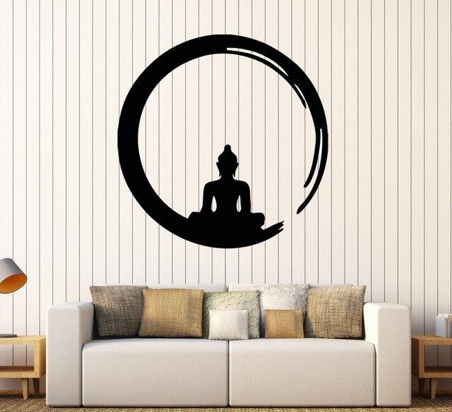 Personnalite Bouddha Vinyle Stickers Muraux Decal Bouddhisme