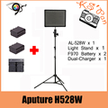 Aputure H528W (обновление AL-528W) CRI 95 СВЕТОДИОДНЫЕ ЛАМПЫ ВИДЕО + SN304 Свет Стенд + 2 Шт. NP-F970 + Двойной Зарядное Устройство