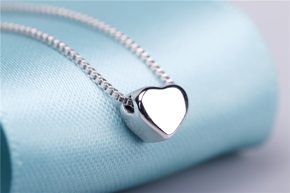 AAA 100% Silver 925 Necklace Shiny Heart Necklace Sterling Silver Necklaces & Pendants FREE SHIPPING Islamabad