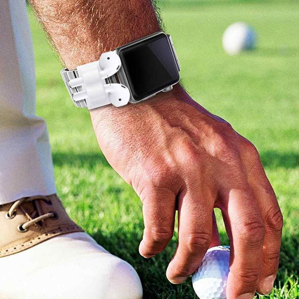 DSstyles Cuffia di Protezione Della Cassa Del Basamento Del Silicone Anti-perso Portatile di Sport Della Cinghia per I-Watch AirPods Accessori