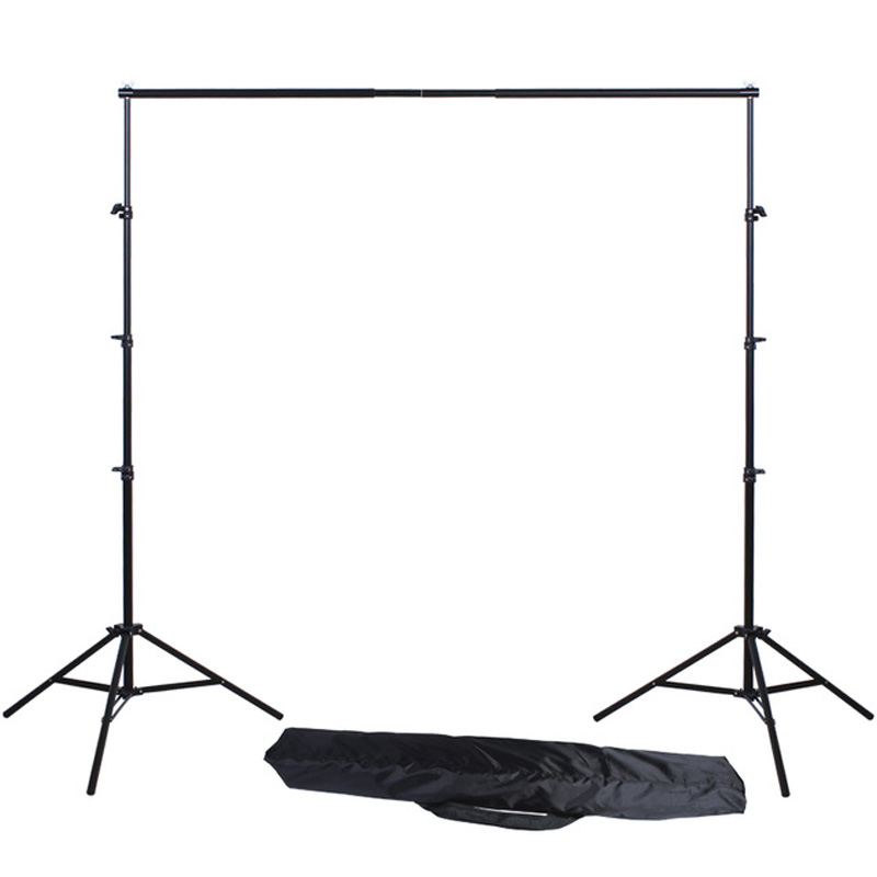Photography Light Stand Frame 2x2M Studio Professional Photo Backdrops Background Support System Stands + Carry Bag allenjoy 3 2 6m 10 8ft professional photo backdrops stand background support system 2 light stands 1 cross bar carry bag