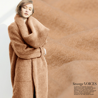Limited Khaki Italy flannelette knitting wool fabrics for coat lightsome soft comfortable bright cloth tissu au meter DIY