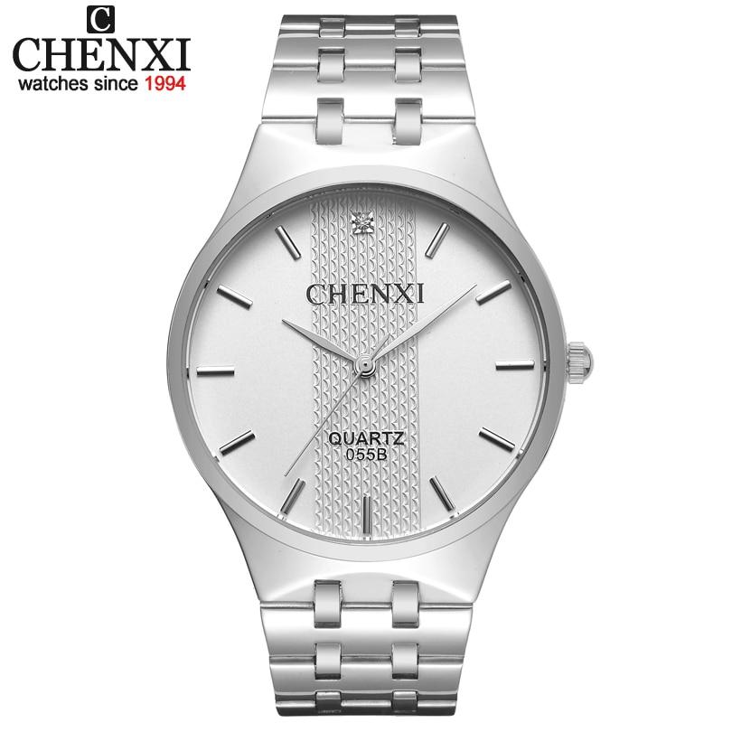 CHENXI Lovers Watches Men Luxury Brand Steel Watch Quartz Men's Wristwatch Clock Male Women Watch Waterproof Relogios Masculinos