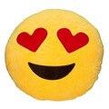 Забавно Мило emoji подушка плюшевая подушка coussin cojines almofada emoji гато Круглый Подушка emoticonos смайлик Подушки Фаршированные Плюшевые