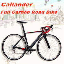 NEW CALLANDER high quality carbon fiber 20speed road bike 700C 48cm carbon frame set high quality road racing bicycle