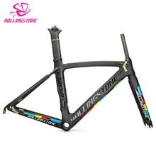 Rolling Stone UCI bicycle frame carbon road bike aero frameset 700C 46cm 49CM 52CM 2018 racing toray T800 ultralight 1050g