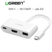 Ugreen Type C USB 3 1 To USB 3 0 HDMI Female Charger Adapter Support 4K