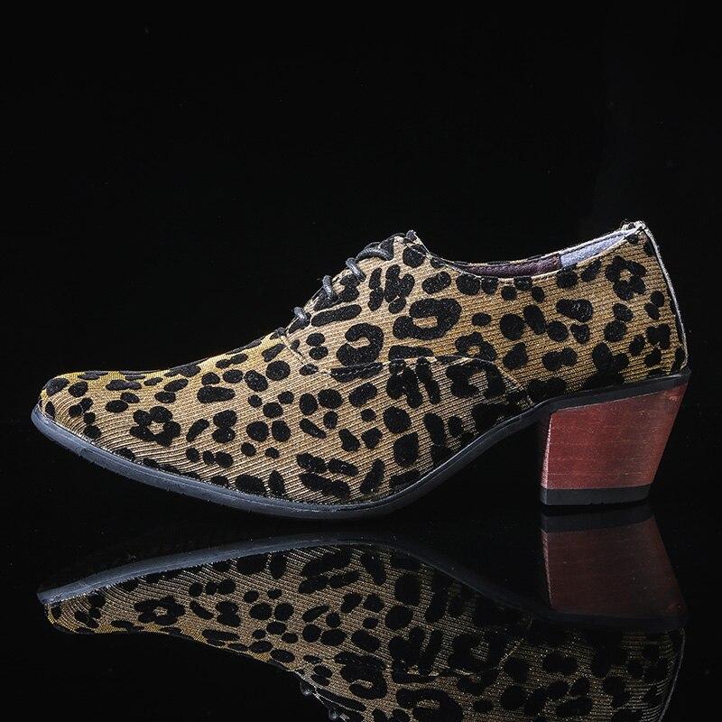 Classique hommes Oxford chaussures formelles orteil Oxford marié mariage mode chaussures or bleu hommes talons hauts concepteur homme Oxford chaussures