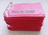 Nouveau Livraison Gratuite Rose 115*180mm 4.5x7 pouce d'espace Utilisable Poly bubble Mailer enveloppes Postale matelassée sac Auto-Étanche [100 pcs]