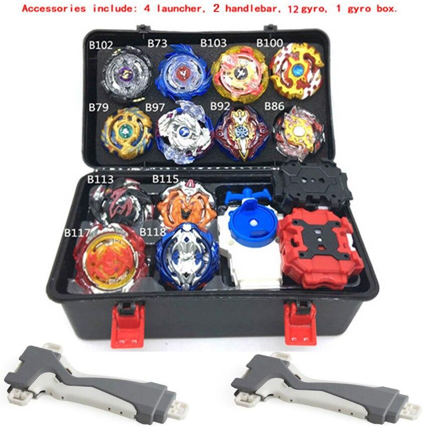 Toupie Beyblades de fusión metálica Beyblades de caja de almacenamiento superior Kai Watch Land bey 4D con lanzador de Beyblade juguetes para niños niño un