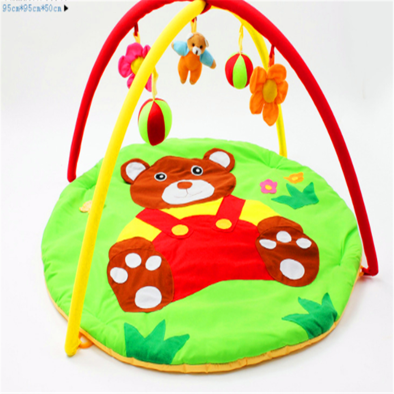 Baby Crawling Play Mat Thickness 95x95CM Padded Cotton Play Blanket Fitness Frame Cute Toys Game Pads for Infants Home Portable