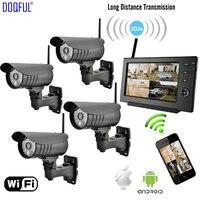 7 Monitor 2.4G Digital Wireless CCTV Security Kit SD Record DIY Surveillance Camera de Seguranca Via Phone Built in Li Battery